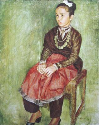 Dullah, Halimah gadis Aceh, oil on canvas, 94,5cm X 74cm-koleksi bung karno (Sumber : lelang lukisan maestro)