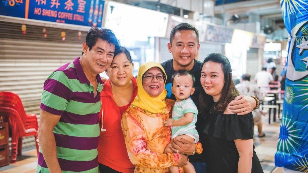 Halimah Yacob dan keluarga (Foto: Dok. Istimewa)