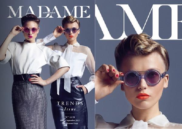 Cast Eyewear milik Fahrani dalam mjalah Fashion Madame