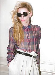 "Model Androjini, Andrej Pejic kenakan Cast Eyewear ""Let's Funk"" seharga $240 saat tampil di majalah Candy (http://zackyliciouss.blogspot.co.id/)"