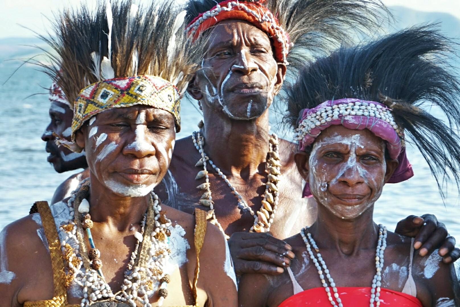 Suku Kamoro di ajang FDS (Foto: Bagus DR / GNFI)