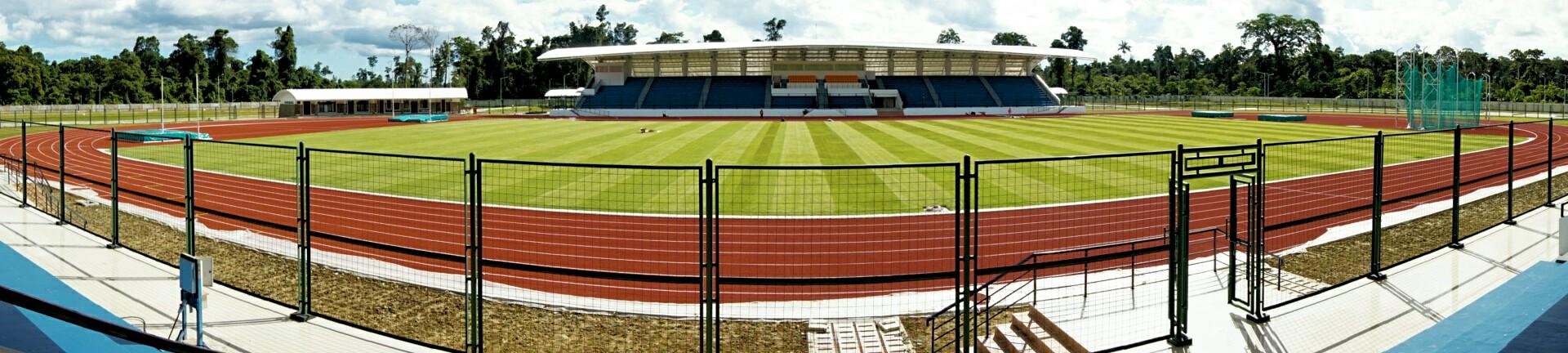 Kemegahan Stadion Atletik kebanggan Timika (Foto: Bagus DR / GNFI)