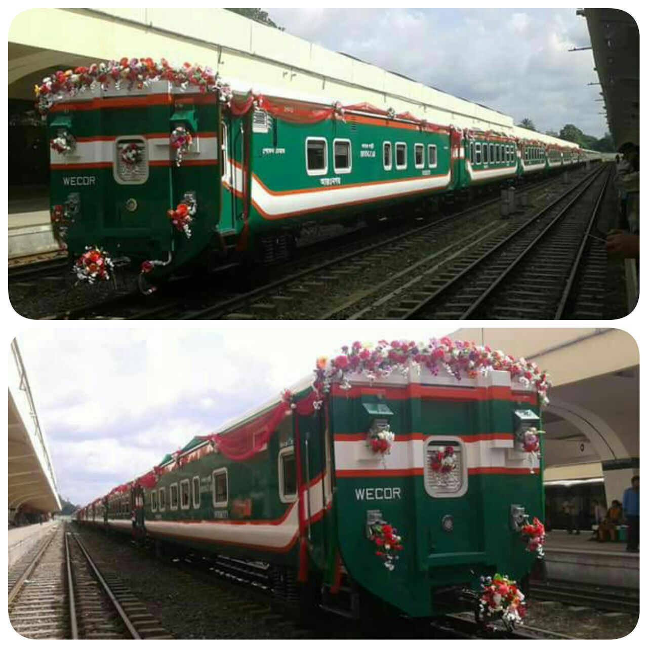 Kereta Sonar Bangla Express buatan Indonesia (Foto: dok. pribadi Dr. Danang Parikesit)