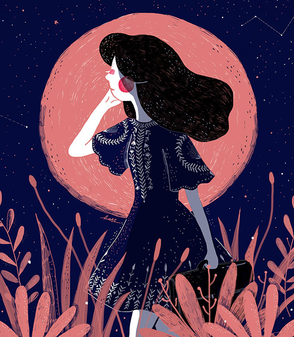The Moon Girl (Gambar: Kathrin Honesta / Behance.net)