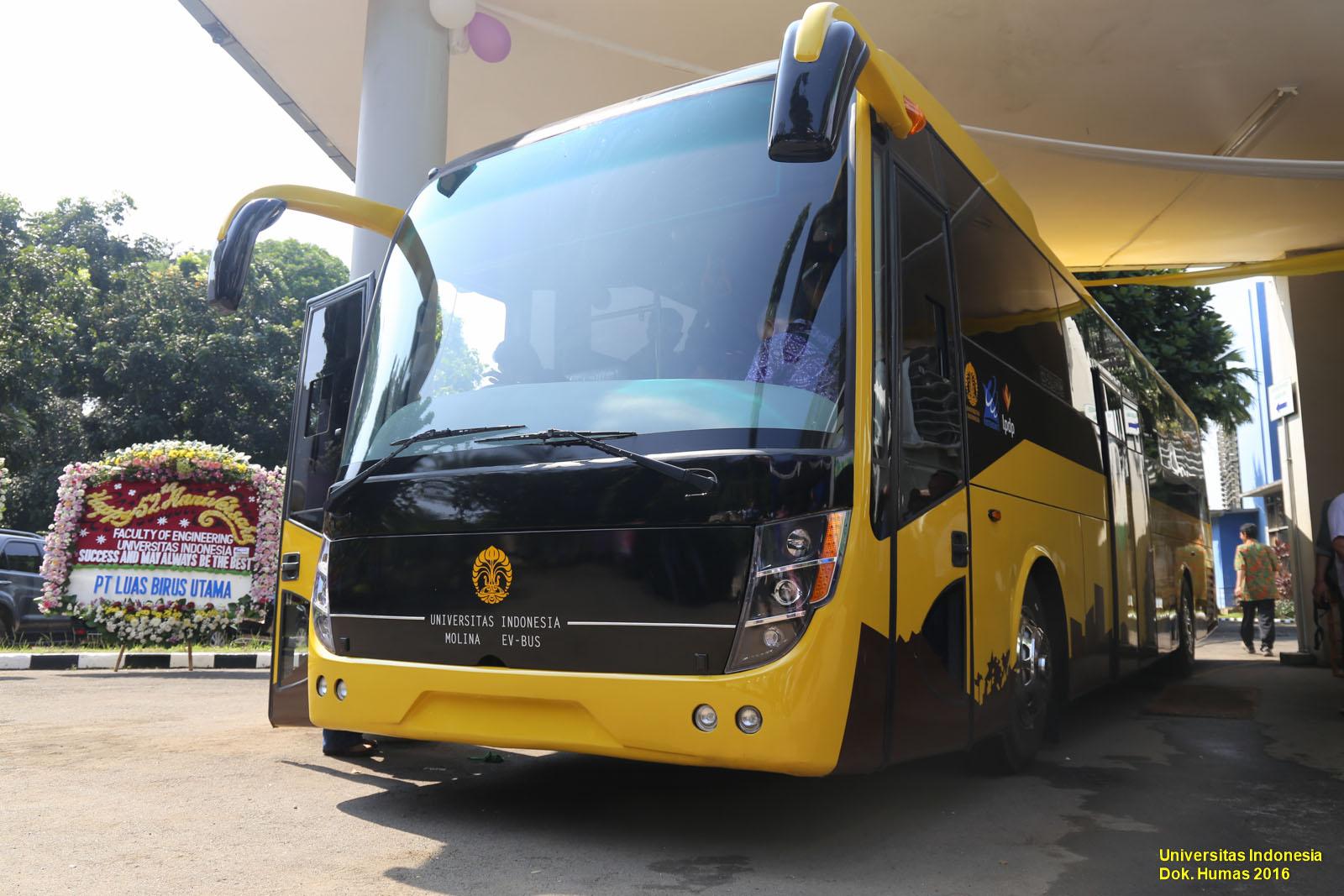 Bus EV (Foto: Dok. Humas / Berita UI)