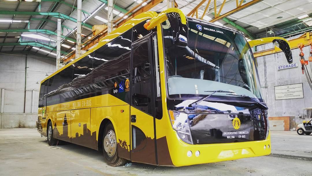 Bus Makara EV karya FTUI (Foto: instagram.com/delimajaya)