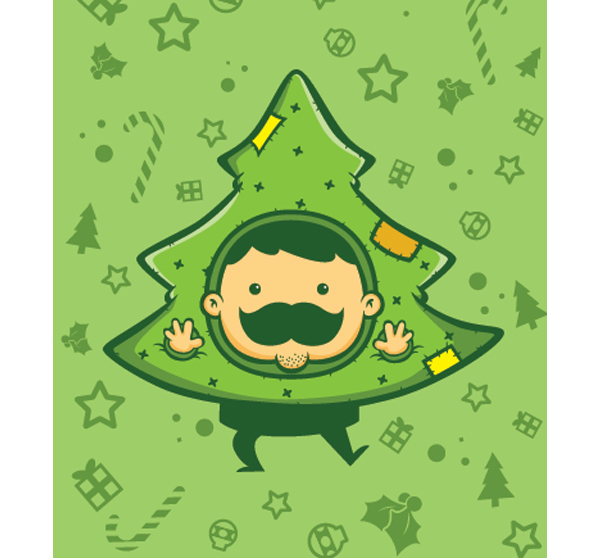 Mr. Moustache Christmas Edition (Gambar: Devina Puspitasari / Behance.net)