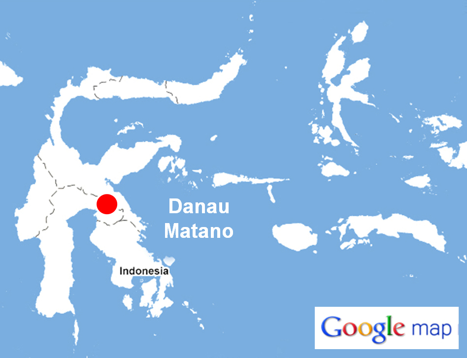 Letak Danau Matano (Gambar: dody94.wordpress.com)