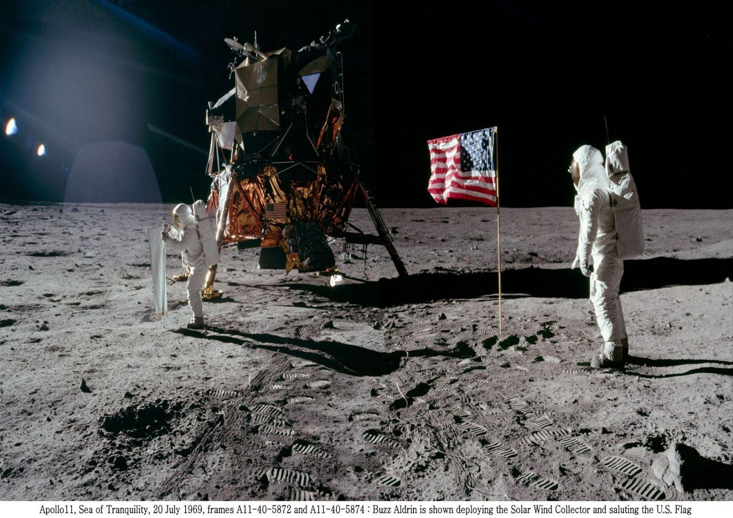 Pendaratan di bulan, 8 tahun setelah pidato Kennedy