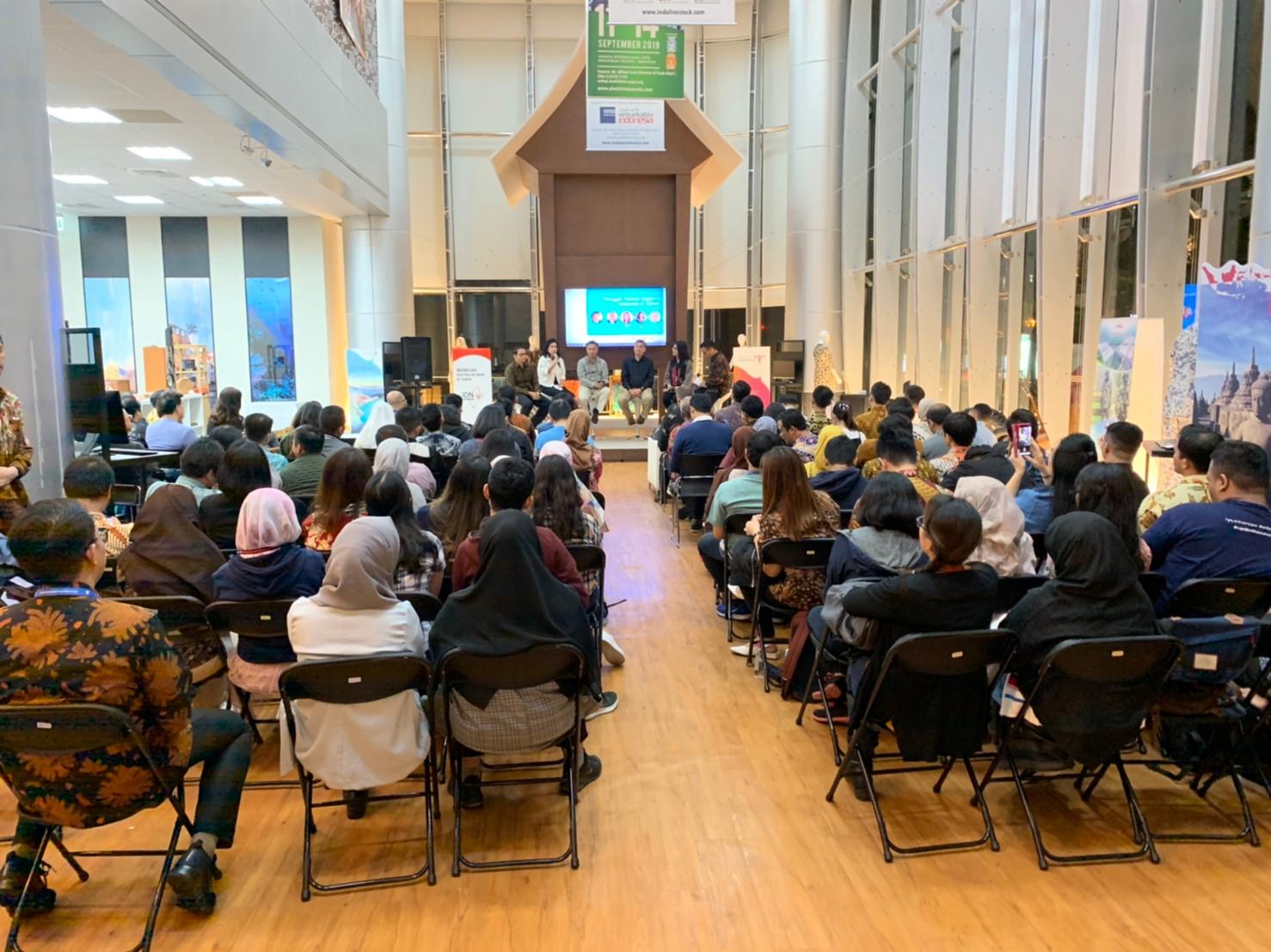 Puluhan audiens dari berbagai kalangan diaspora Indonesia di Taiwan © IDN Taiwan