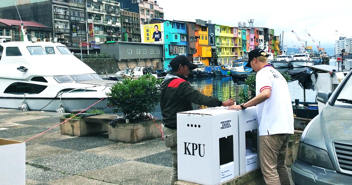 Salah satu titik mobilisasi KSK di area Keelung, Taiwan