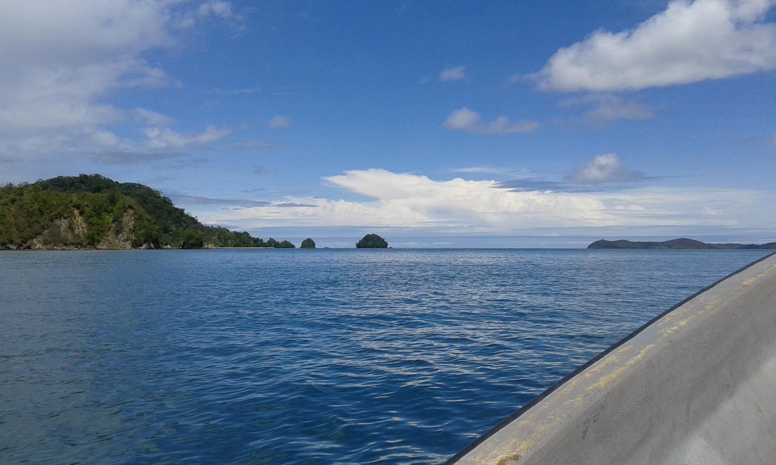 Lautan Pasifik dari Atas Speed Boat