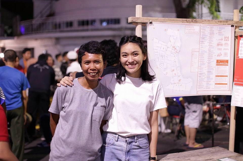 Anitha Silvia dan Celcea Tifani, inisiator Pertigaan Map   Sumber: provoke-online.com