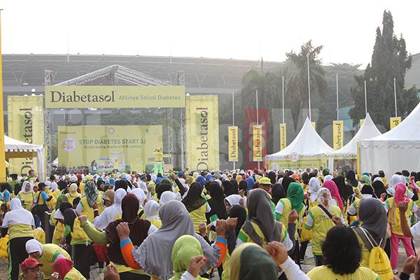 Salah satu strategi Diabetasol, dengan menyelenggarakan acara Fun for Walk | Sumber: fitnessformen.co.id