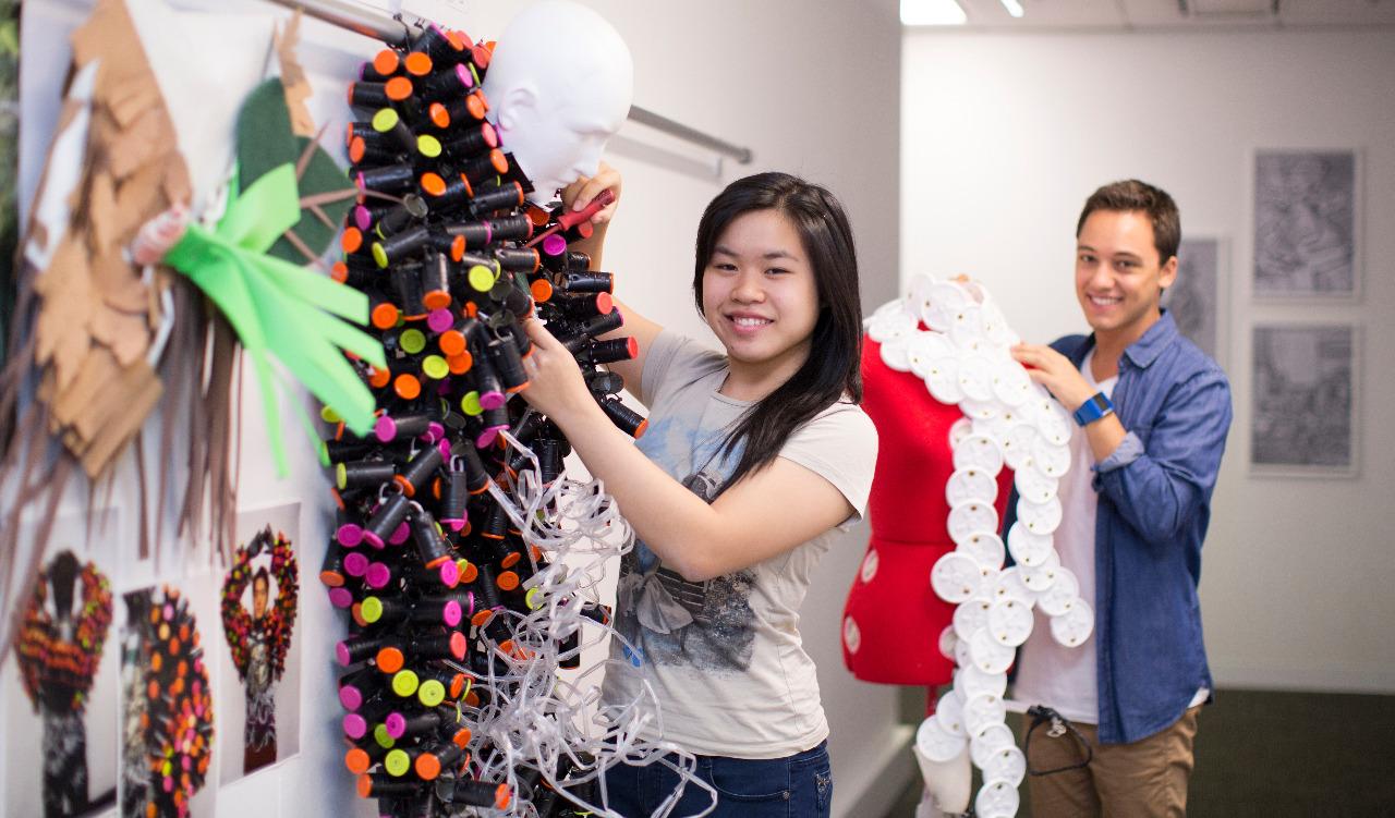 Proyek mahasiswa Desain UTS. Foto: Golin