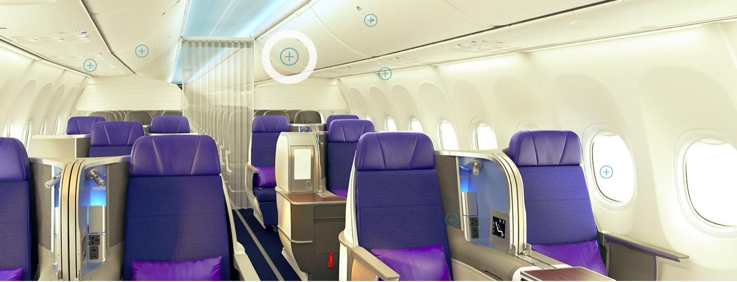 Kursi bisnis di pesawat Boeing 737 Max. Foto: Boeing