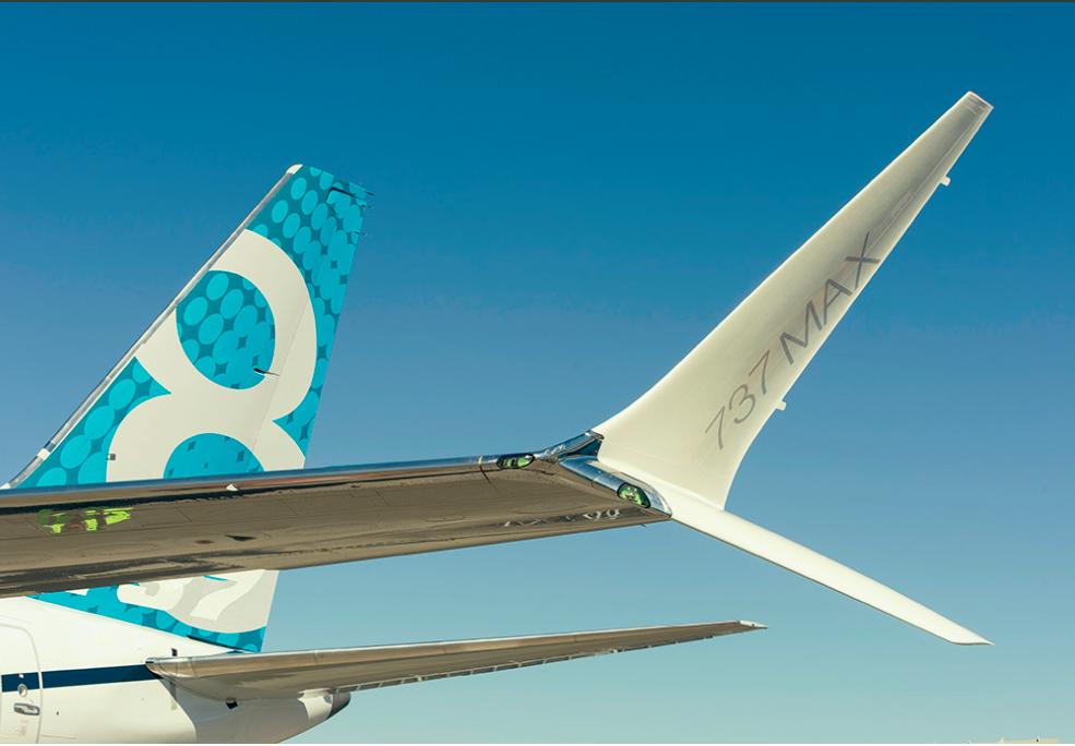 Winglet terbaru 'Scimitar Winglet' di Boeing 737 Max 8. Foto: Boeing