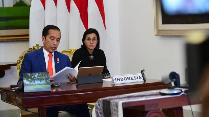 Presiden Joko Widodo di KTT G20 Virtual. Foto: Biro Pers Sekretariat Presiden/Muchlis Jr