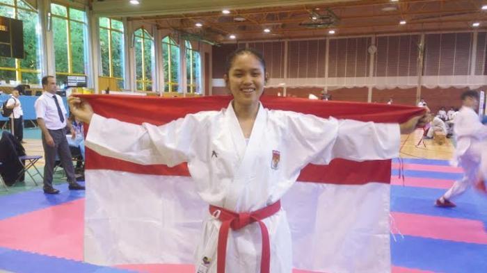 Nicky Dwi Oktari Putri Isyelda, karateka Medan berprestasi. (Tribun-Medan.com/ Dedy Kurniawan)