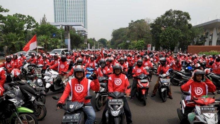 5000 driver bonceng 'turun' ke jalan. Foto: nusantaratv.com