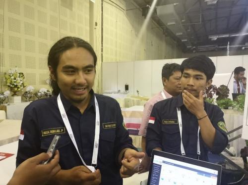 Tim Elco_Thunder dari Universitas Siliwangi Tasikmalaya yang memenangkan IoT Makers 2019. Foto: Pernita Hestin Untari/Okezone
