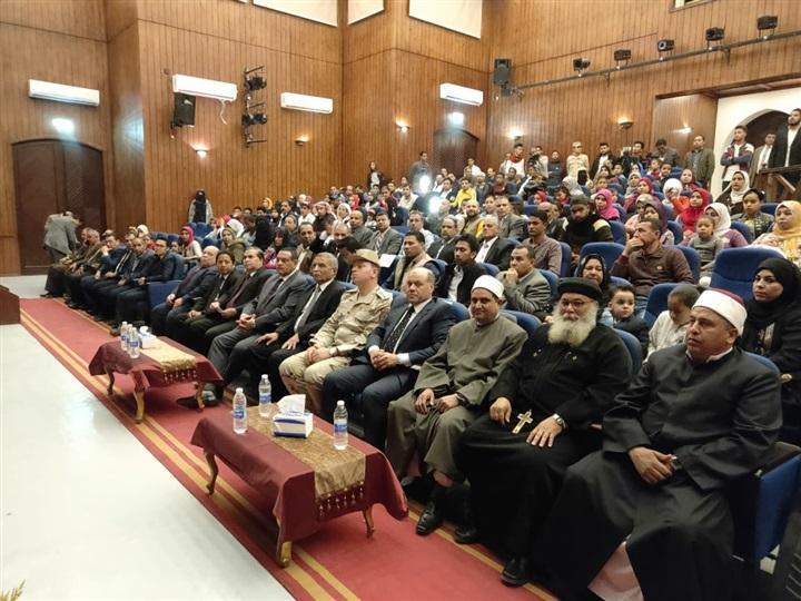 Dubes LBBP RI untuk Mesir, Kepala Fungsi Pensosbud KBRI Kairo, Gubernur Beheira beserta jajaran dan para tokoh mayarakat kota Wadi el-Natroun