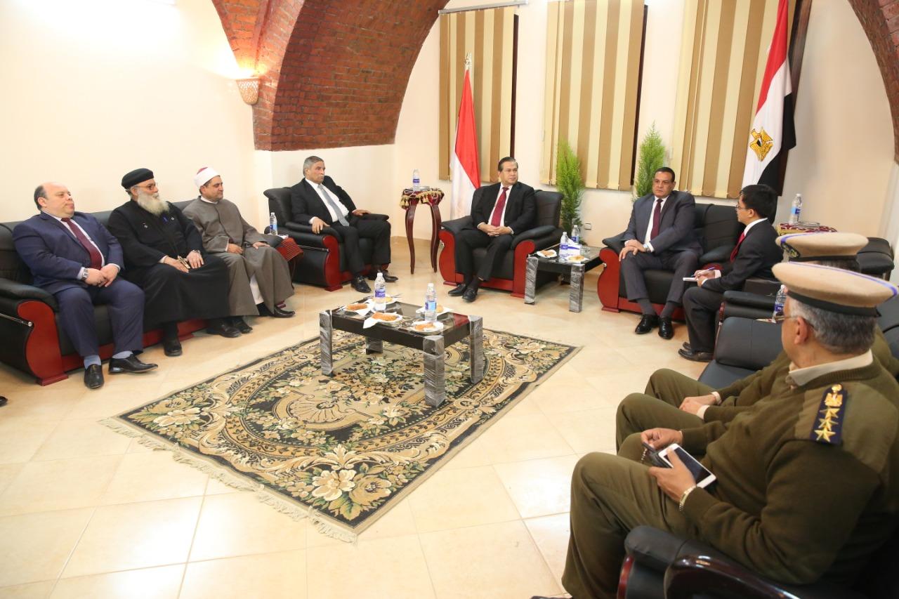 Sambutan Hangat dari Gubernur Beheira dan Tokoh masyarakat sekitar kepada Dubes LBBP Indonesia untuk Mesir beserta jajaran