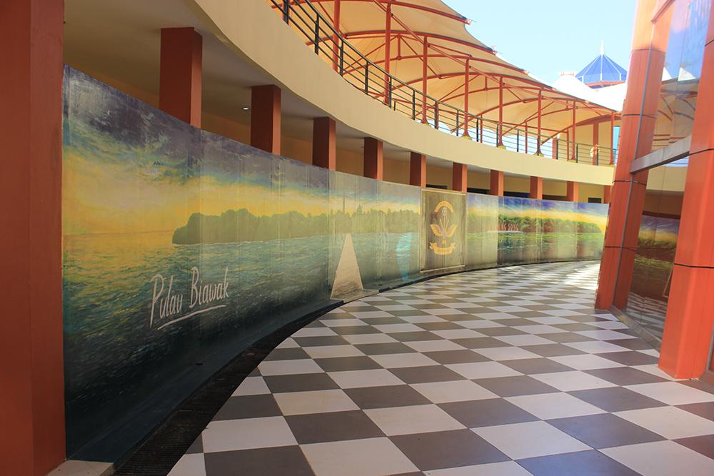 Hasil mural pulau biawak