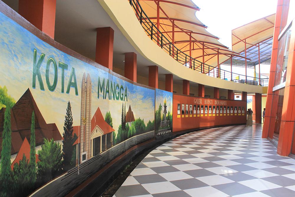 hasil mural gambar kota mangga