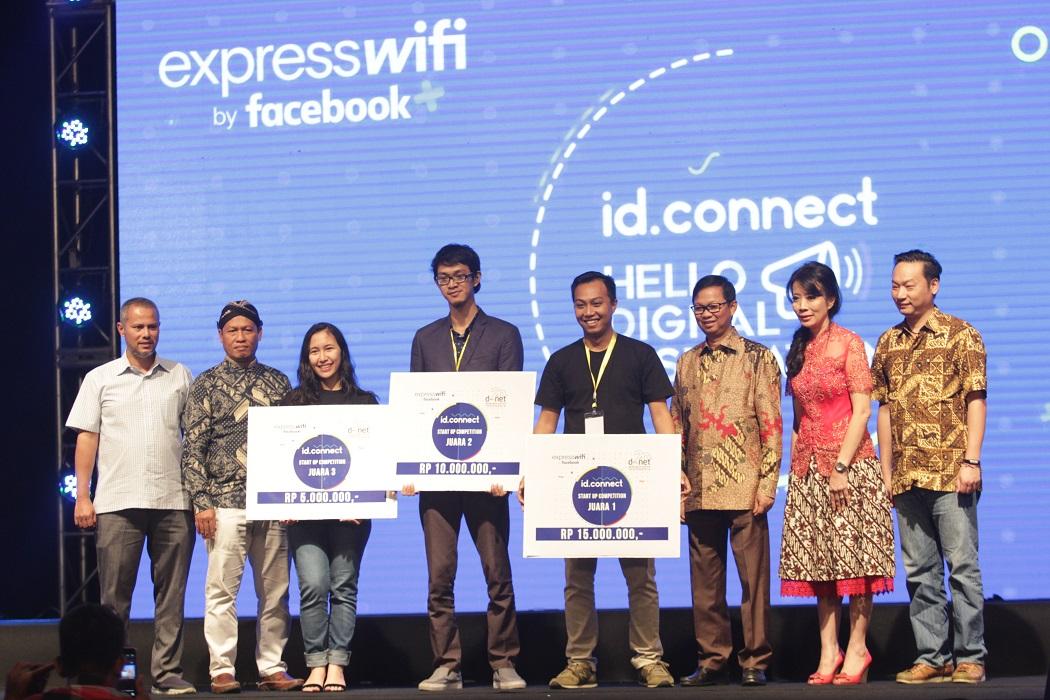foto bersama pemenang kompetisi startup yang tidak hanya mendapat hadiah uang tunai tetapi juga sesi mentoring untuk menambah kemampuan pengelolaan bisnis startup | foto hasil dokumentasi idconnect