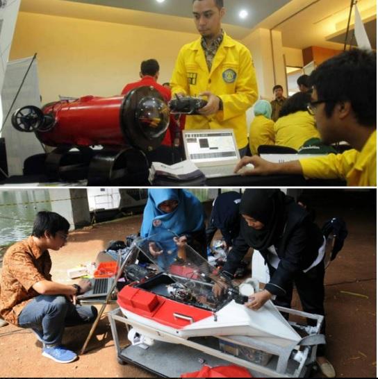 Tim AMV UI ketika mempersiapkan Makara-05 dan Makara-06 menuju International RoboBoat Competition, AS (foto dari Instagram @univ_indonesia)