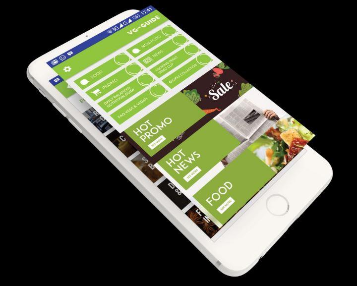 tampilan applikasi veggie guide
