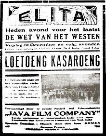 Poster Penayangan Film Loetoeng Kasaroeng   Sumber: Wikipedia.id