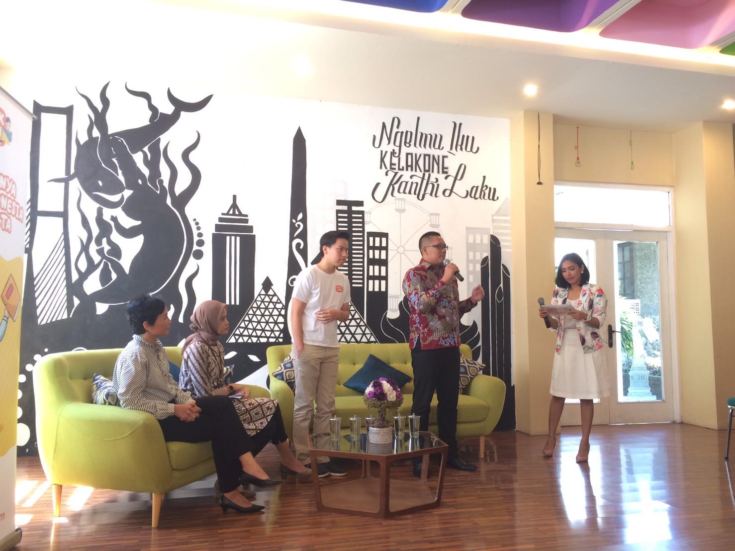 Acara peluncuran Kerik Jamu di Surabaya Creative Hub | Foto: Atika Puji Purwenny/GNFI