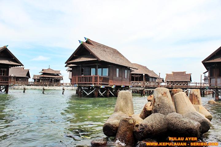 Cottage di Atas Laut ( Floating ) Pulau Ayer Resort Wisata Pulau Seribu Jakarta