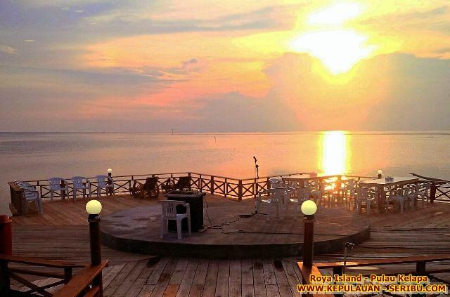 Dermaga Sunset Pulau Royal Pulau Kelapa