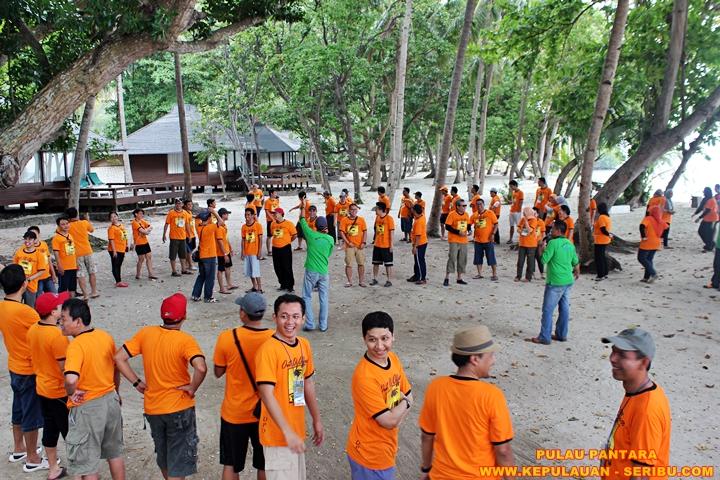 Outing  atau Gatherin Di Pulau Pantara Resort Wisata Kepulauan Seribu jakarta