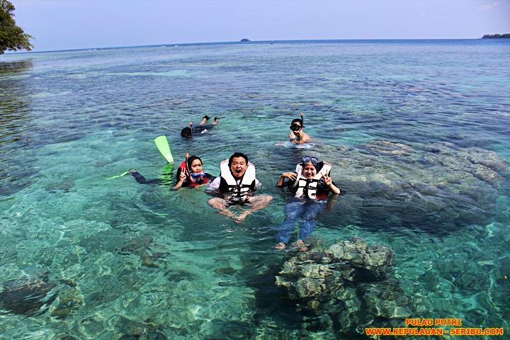 Snorkeling Di Pulau Putri Resort Wisata Pulau Seribu Jakarta