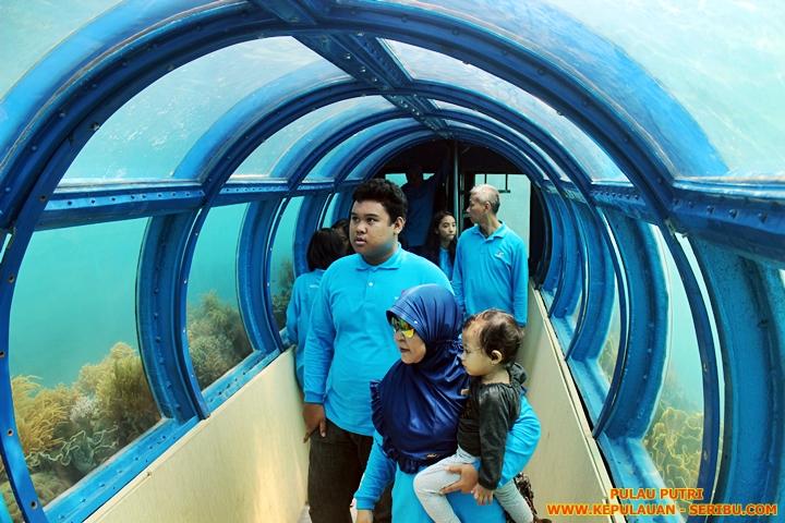 Tunnel Aquarium Pulau Putri Resort Wisata Pulau Seribu