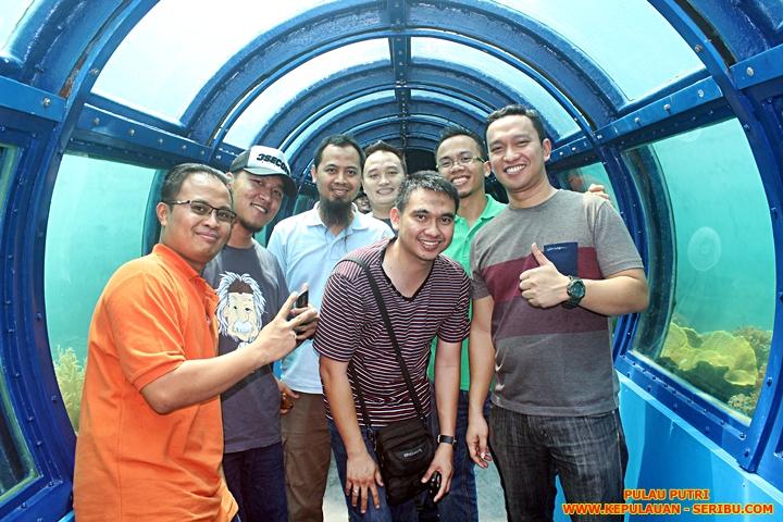 Tunnel Aquarium Pulau Putri Resort Wisata Kepulauan Seribu
