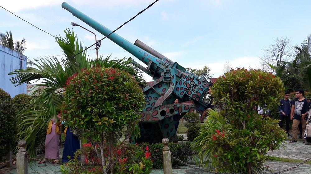 Meriam Pertama Peninggalan Jepang