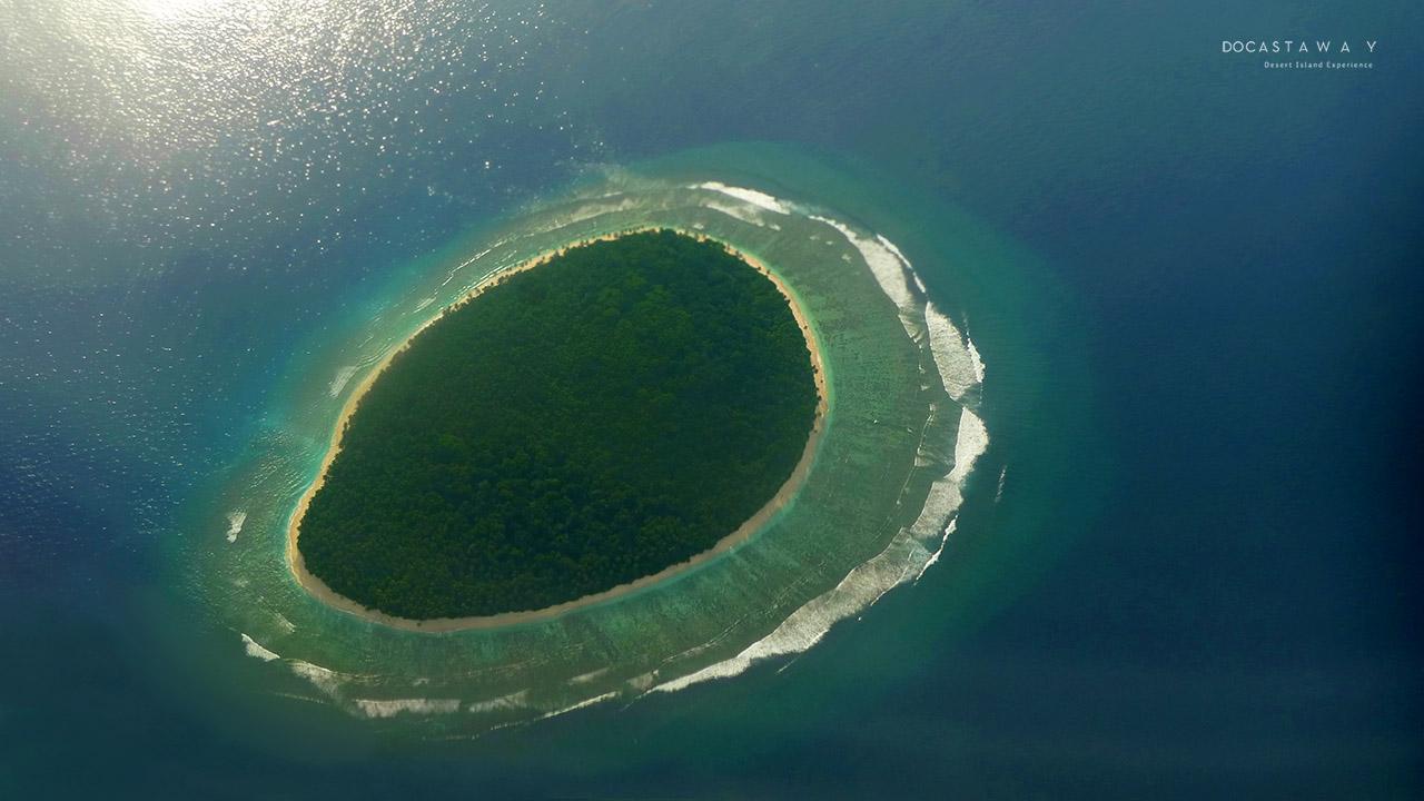 Pulau Amaro dilihat dari atas (©Docastaway)