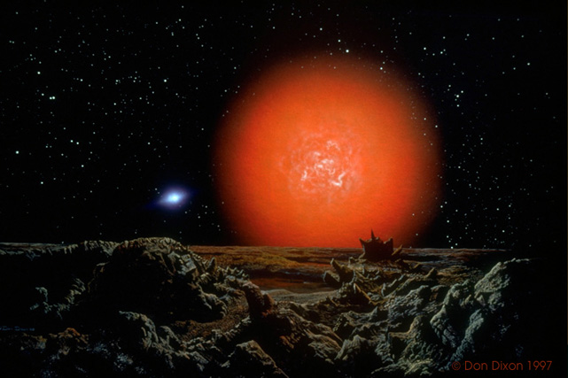 Bintang Antares yang juga akan terlihat pada Gerhana Bulan 7 Agustus 2017 (© Pensaencyclopedia)