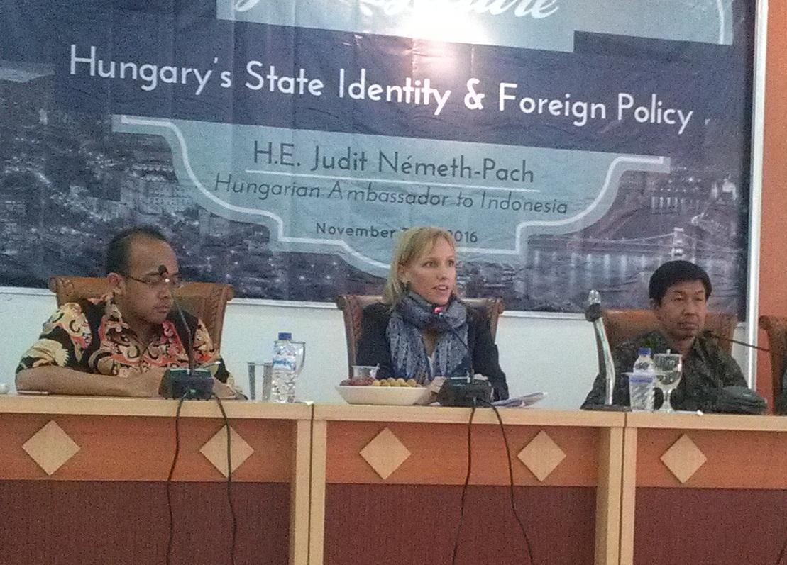 Duta Besar Hongaria untuk Republik Indonesia, Timor Leste, dan ASEAN, Judit Németh-Pach. Hubungan kerjasama antara Indonesia dengan Hongaria berfokus pada sektor ekonomi dan pendidikan