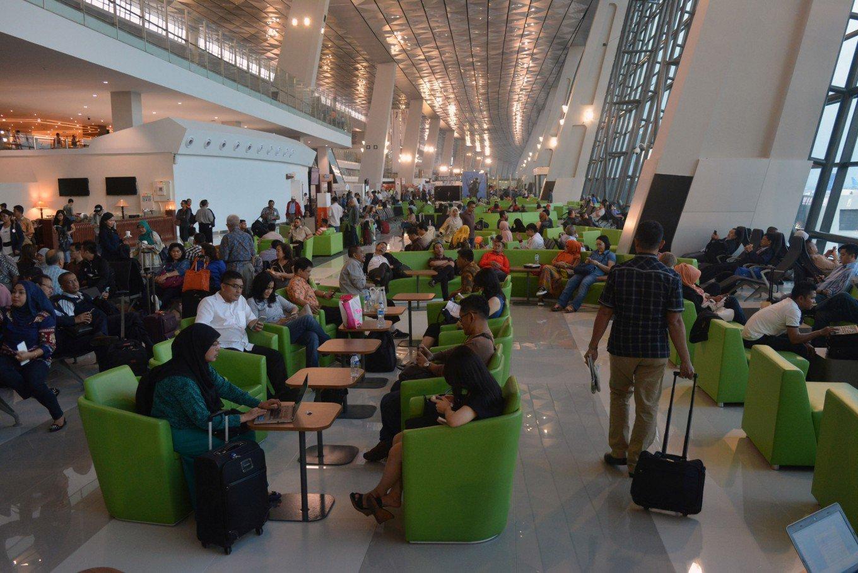 Suasana di Terminal 3 Bandara Soekarno-Hatta. Ditargetkan akhir tahun 2017 Terminal 3 siap beroperasi secara maksimal © Antara Photo/Lucky R (via The Jakarta Post)