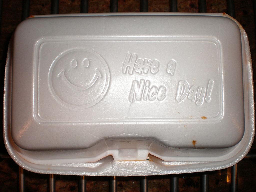 Ilustrasi sebuah bungkus makanan berbahan dasar styrofoam. Meskipun berdampak negatif terhadap lingkungan dan kesehatan, styrofoam masih menjadi primadona bagi masyarakat sebagai pembungkus makanan © beth / CC BY 2.0