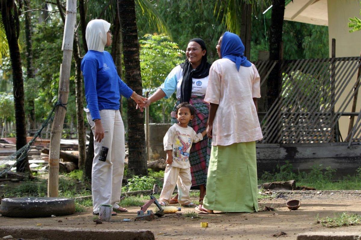 IOM bergerak aktif di akar rumput untuk menyebarkan pemahaman tentang bahaya dari perdagangan manusia © IOM