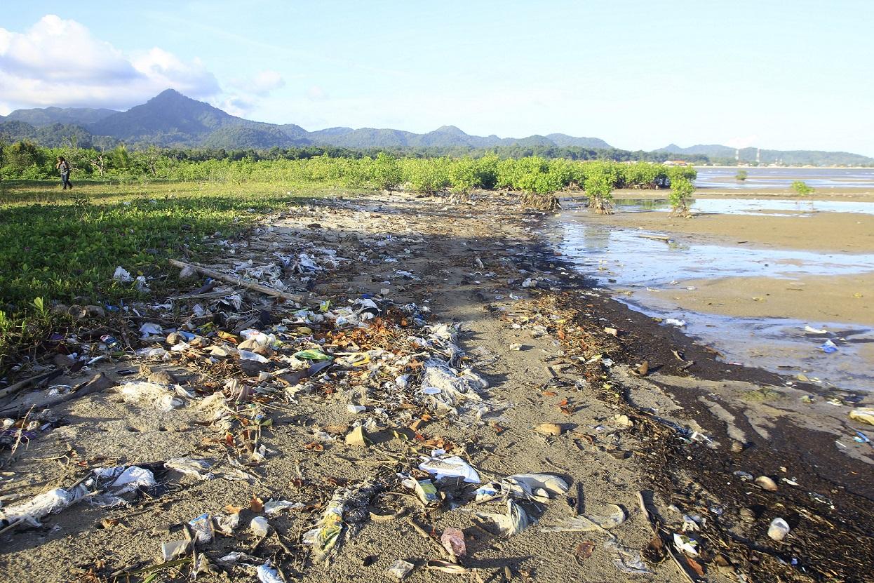 Potret sampah di bibir pantai Pulau Bawean © 2017, Bhumihara