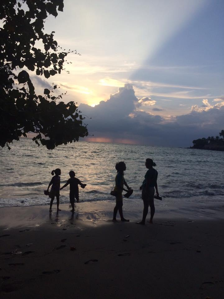 silhouette di Pantai Senggigi