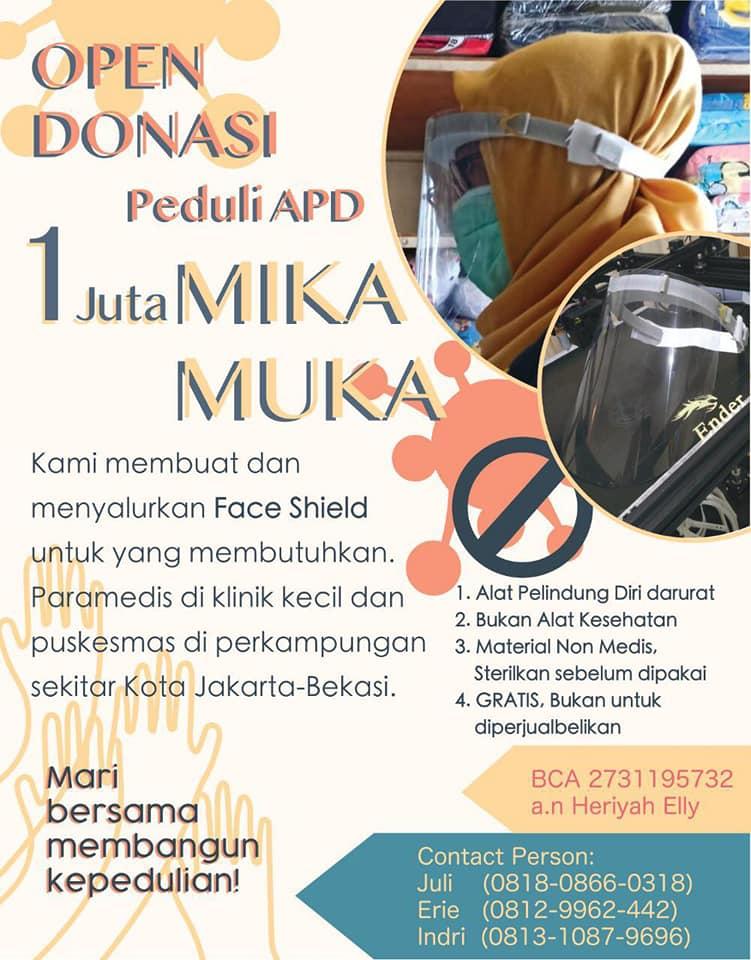 Kampanye donasi Mika Muka | Dok. Yani Sujaya